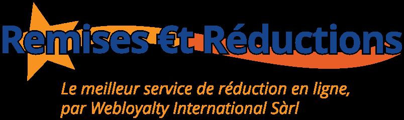 Logo du service de cashback payant Remises & Réductions qui est édité par Webloyalty International Sàrl.